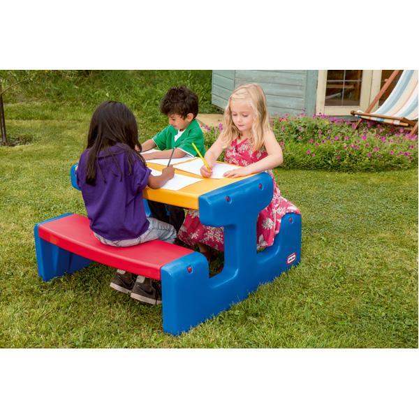 Großer Picknicktisch - blau/rot/gelb 2