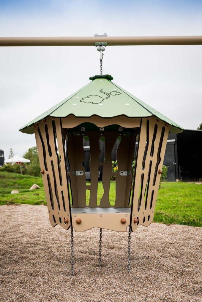 Spielanlage Hanok - inkl. Nestschaukel & schwingender Hütte - LEDON Explore - EX113 10