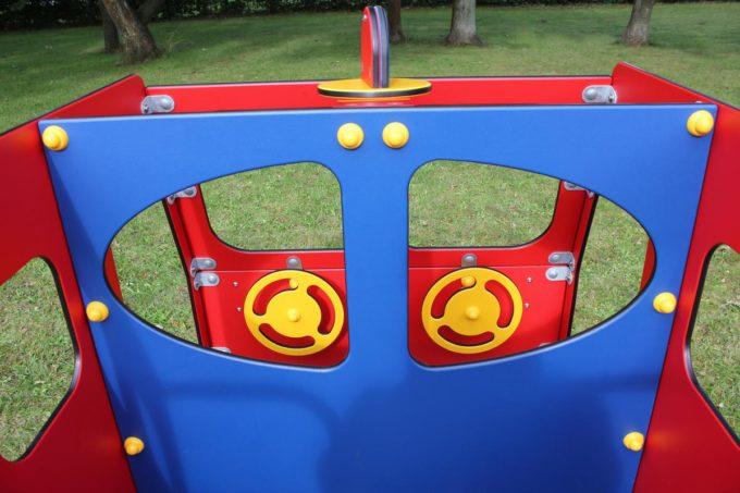 Spielhaus Feuerwehrauto auf Federn - LEDON Originals - 1701-02 13