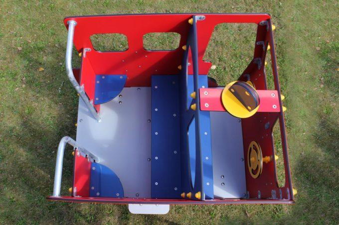Spielhaus Feuerwehrauto auf Federn - LEDON Originals - 1701-02 14