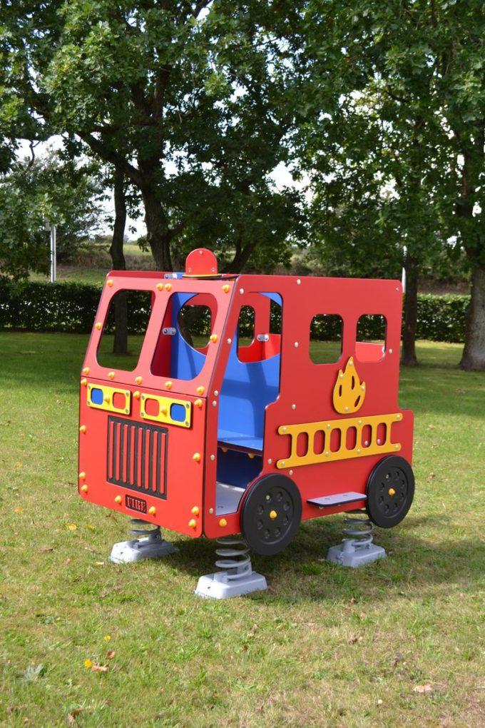 Spielhaus Feuerwehrauto auf Federn - LEDON Originals - 1701-02 15