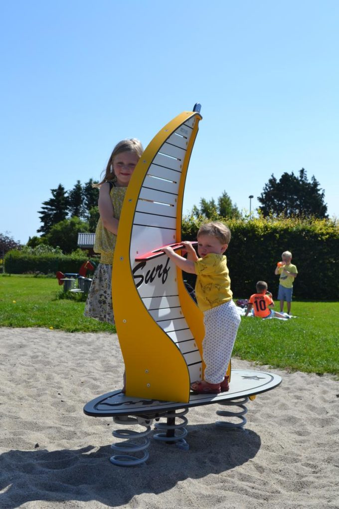 Stehwippe Windsurfer in gelb - LEDON Originals 4
