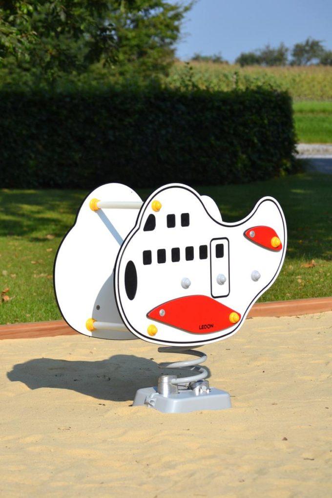 Federwippe Jumbo Flugzeug - LEDON Originals 3