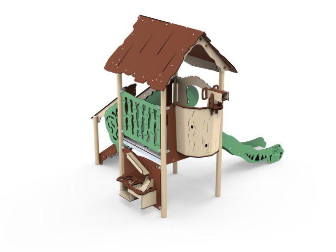 Spielanlage Atox - inkl. Rutsche & Treppe - LEDON Explore - EX111 1