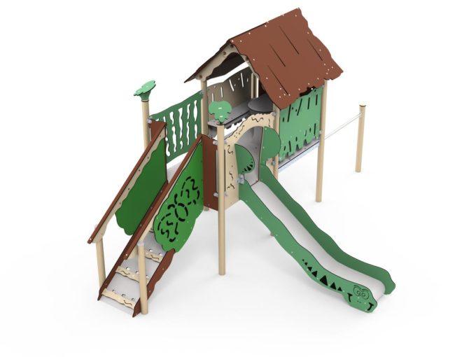 Spielanlage Rios - inkl. Spielhaus, Rutsche & Treppe - LEDON Explore - EX112 2