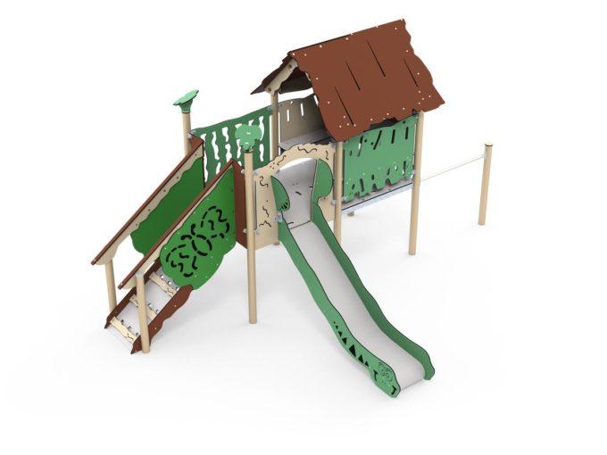 Spielanlage Rios - inkl. Spielhaus, Rutsche & Treppe - LEDON Explore - EX112 1