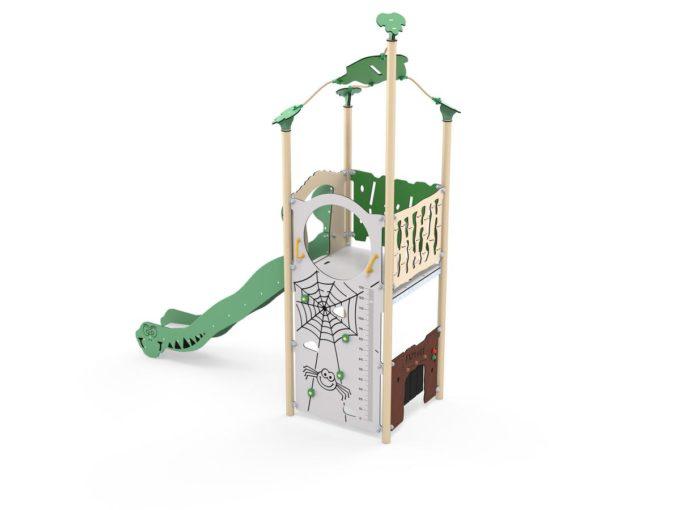 Spielturm Roka - inkl. Rutsche & Kletterwand - LEDON Explore - EX140 1