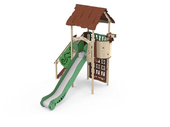 Spielturm Bona - inkl. Rutsche,Treppe & Tic Tac Toe - LEDON Explore - EX141 1