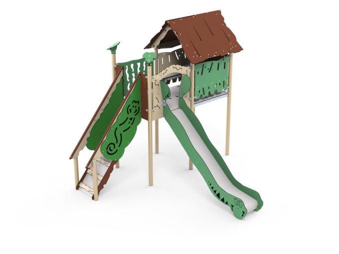 Spielplatz Mayan - mit integriertem Spielhaus und Rutsche - LEDON Explore - EX142 2