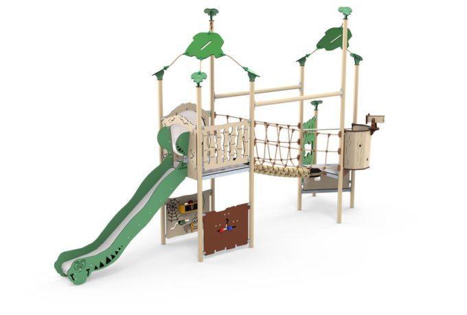 Zwei-Turm-Spielanlage Kila - Brücke und Rutsche - LEDON Explore - EX255 1