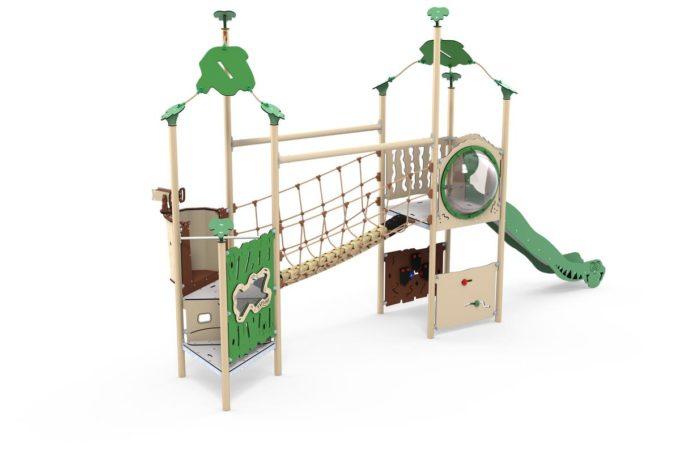 Zwei-Turm-Spielanlage Kila - Brücke und Rutsche - LEDON Explore - EX255 3
