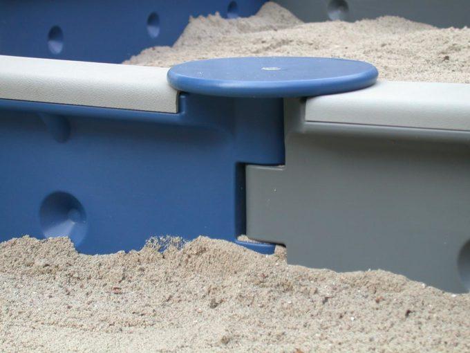Sandkasten sechseckig mit 6 Seiten - LEDON Originals 12