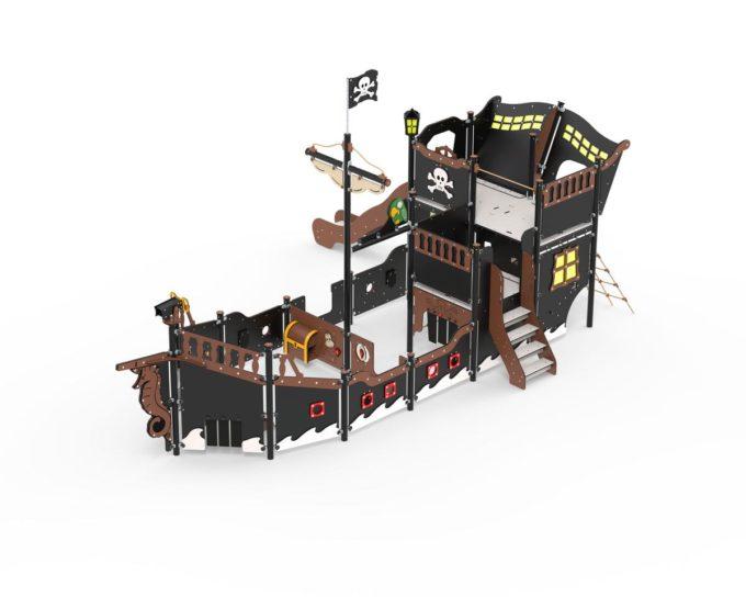 großes Piratenschiff Victoria mit Treppe und Rutsche - LEDON Pirates - LP313 1