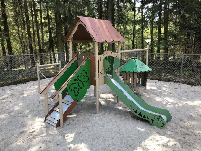 Spielanlage Hanok - inkl. Nestschaukel & schwingender Hütte - LEDON Explore - EX113 4