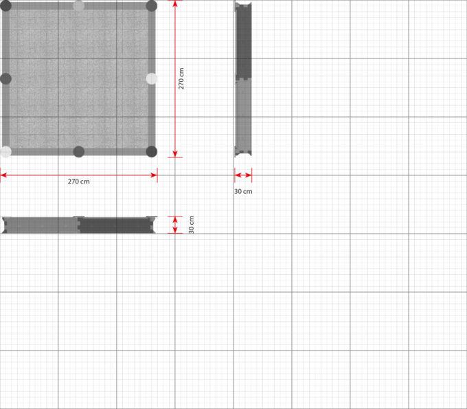 LEDON Sandkasten quadratisch mit 8 Seiten - verschiedene Ausführungen 2