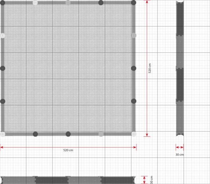 Sandkasten quadratisch mit 16 Seiten - LEDON Originals 4