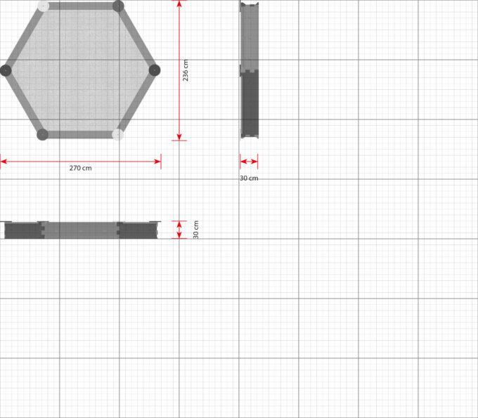 Sandkasten sechseckig mit 6 Seiten - LEDON Originals 5