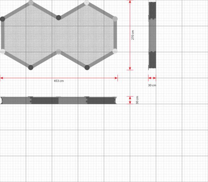 LEDON Zehneck-Sandkasten mit 10 Seiten - verschiedene Ausführungen 4