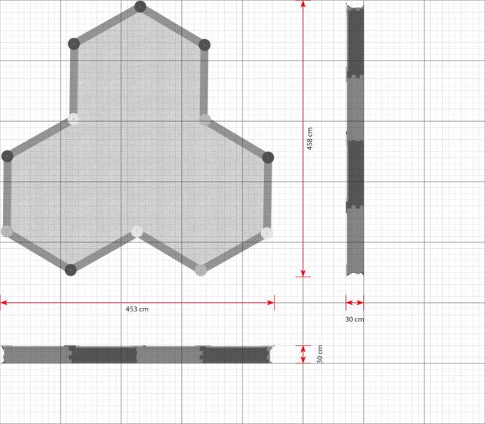 LEDON Stern-Sandkasten mit 12 Seiten - verschiedene Ausführungen 2