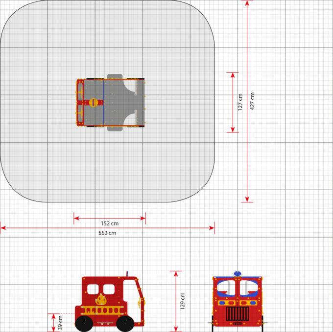 Spielhaus Feuerwehrauto - LEDON Originals - 1700 2