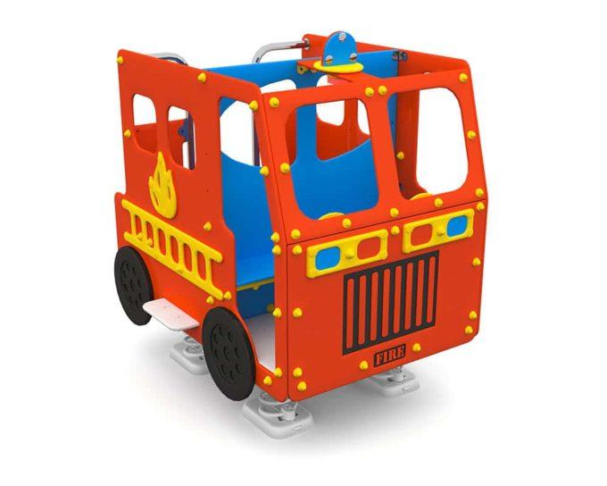 Spielhaus Feuerwehrauto auf Federn - LEDON Originals - 1701-02 1