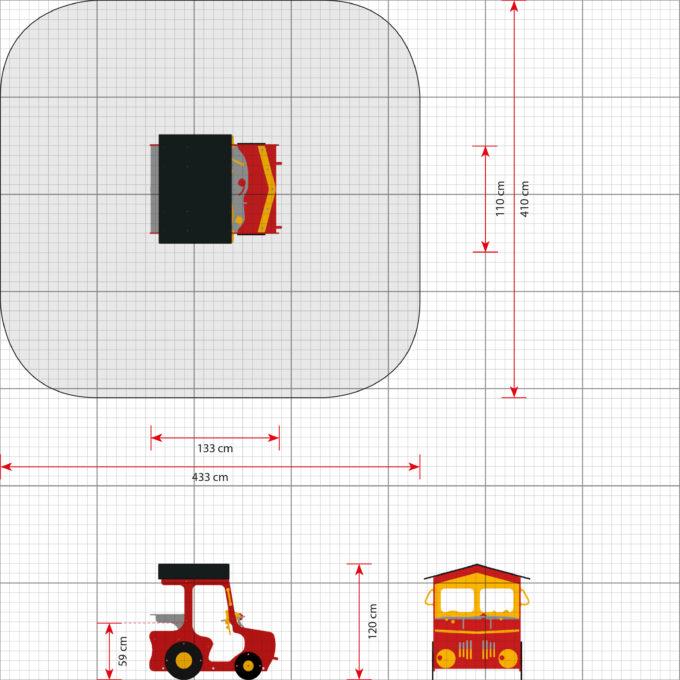Spielhaus Traktor in Rot - LEDON Originals - 1710-11 2