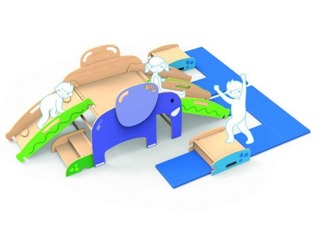 Bewegungslandschaft Wild Climber - Elefant 1