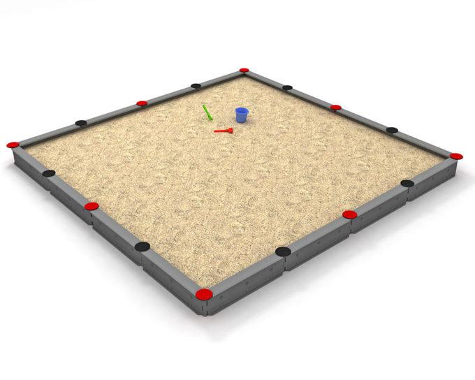 LEDON Sandkasten quadratisch mit 16 Seiten - verschiedene Ausführungen 5