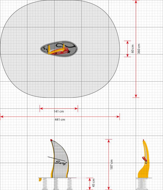 Stehwippe Windsurfer in gelb - LEDON Originals 2