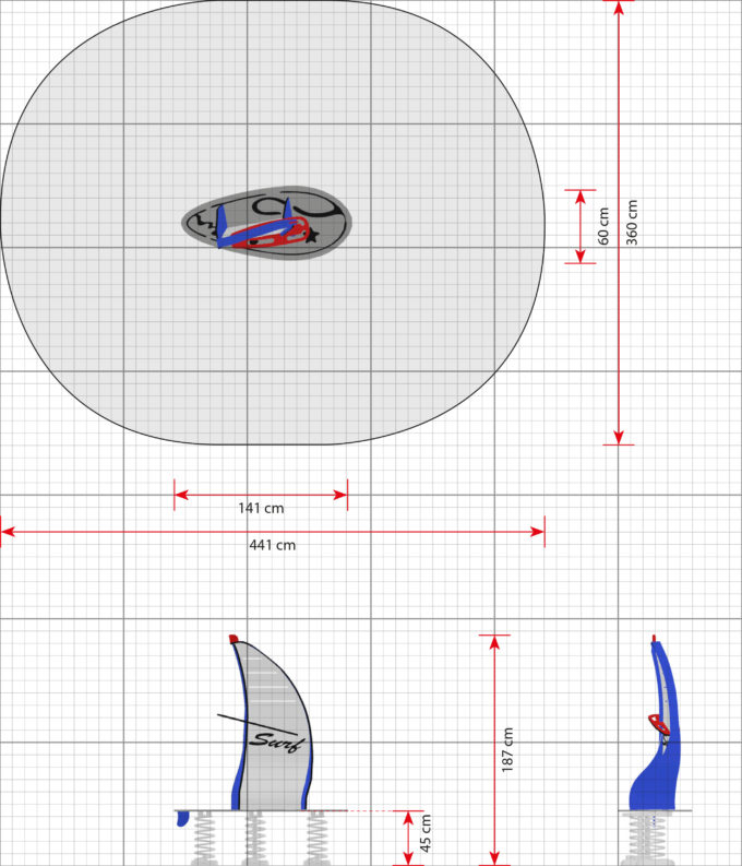 Stehwippe Windsurfer Marina - LEDON Originals 2