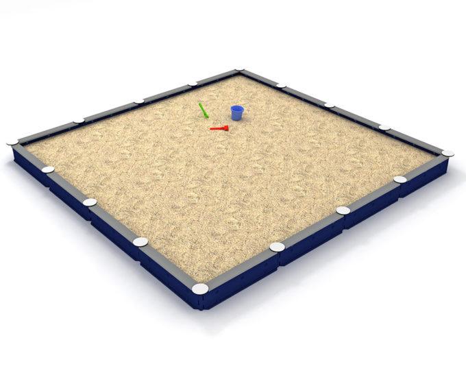 Sandkasten quadratisch mit 16 Seiten - LEDON Originals 2