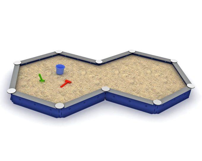 LEDON Zehneck-Sandkasten mit 10 Seiten - verschiedene Ausführungen 2