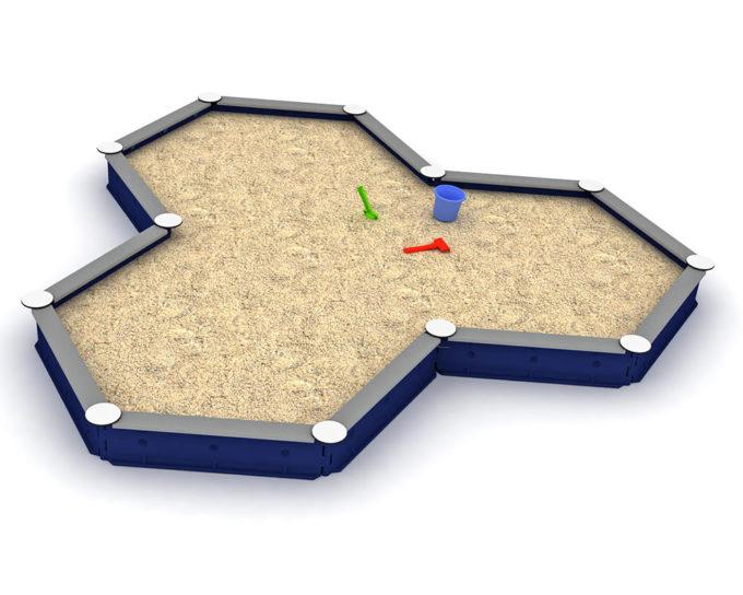 LEDON Stern-Sandkasten mit 12 Seiten - verschiedene Ausführungen 3