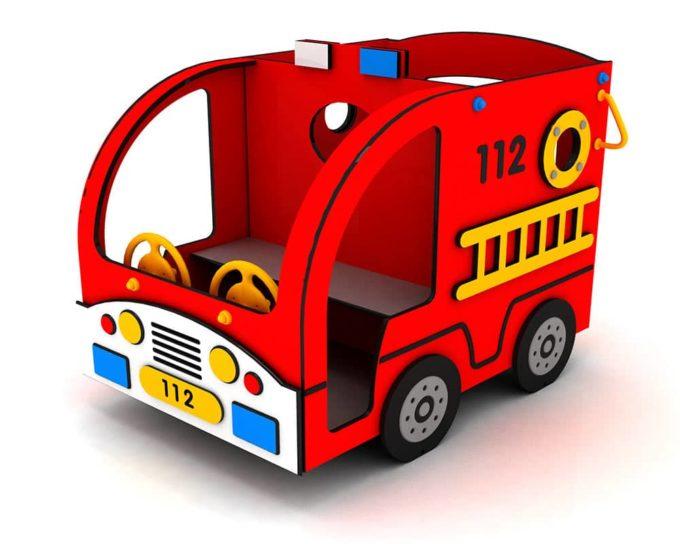 Spielhaus Mini Feuerwehrauto - LEDON Originals - 304010 1
