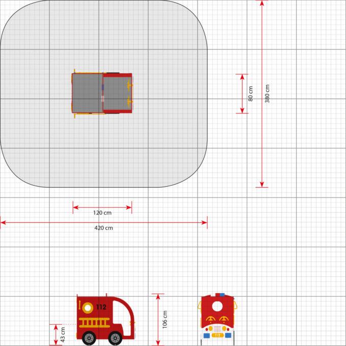 Spielhaus Mini Feuerwehrauto - LEDON Originals - 304010 2