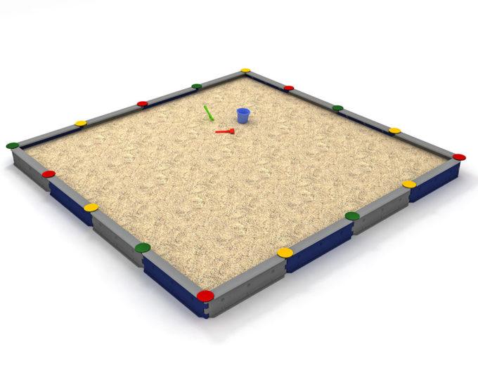 Sandkasten quadratisch mit 16 Seiten - LEDON Originals 3