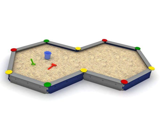 LEDON Zehneck-Sandkasten mit 10 Seiten - verschiedene Ausführungen 3