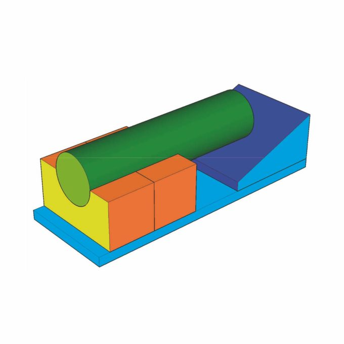 5-teiliges Baumodul MAXI (Zylinder-Brücke) 2