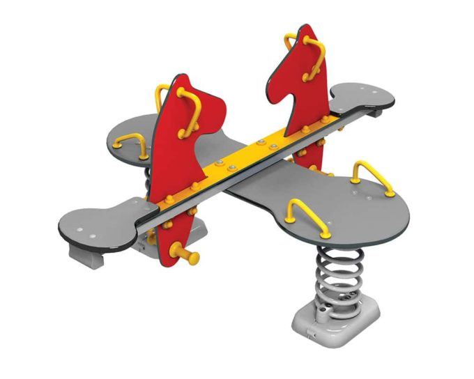 Federwippe Pony für 4 Kinder - LEDON Originals 1