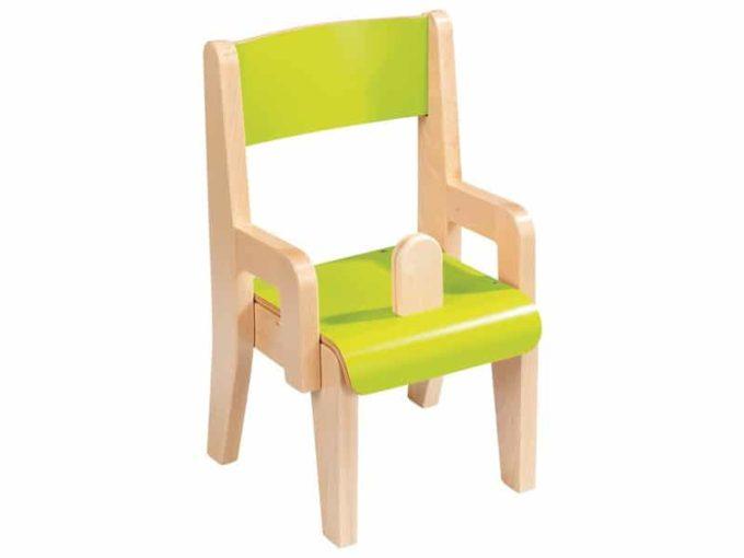 Kindergarten-Stuhl aus Holz mit Schrittstütze 1