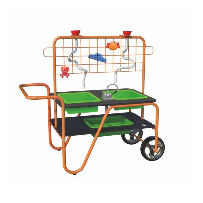 Beleduc Mobiler Wasserspiel & Sandspieltisch - Matsch Spaß 1