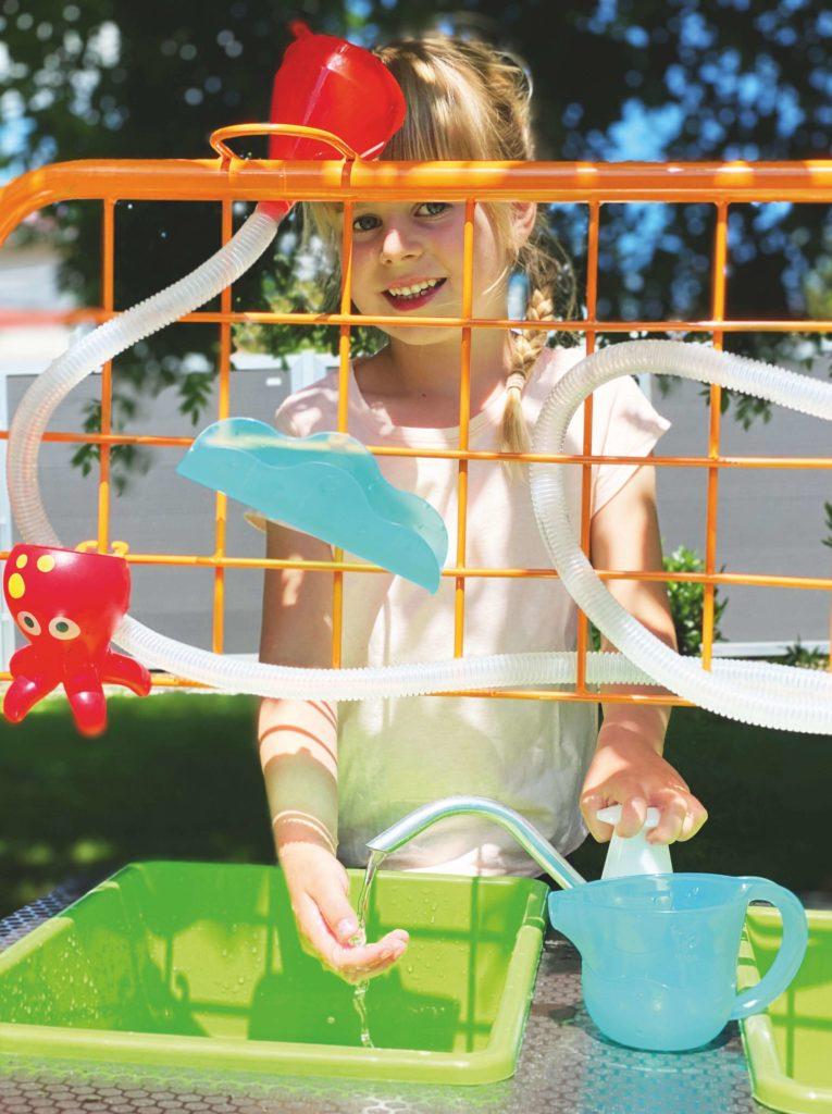 Beleduc Mobiler Wasserspiel & Sandspieltisch - Matsch Spaß 4