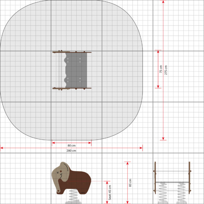 Federwippe Breiter Elefant - LEDON Explore - 642030 2