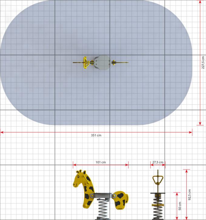 Federwippe Giraffe - LEDON Explore - EX011 2