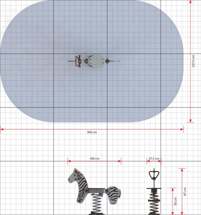 Federwippe Zebra - LEDON Explore - EX013 2