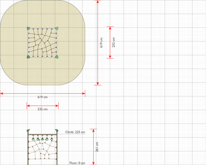 Kletternetz-System Askal - LEDON Explore - EX065 2