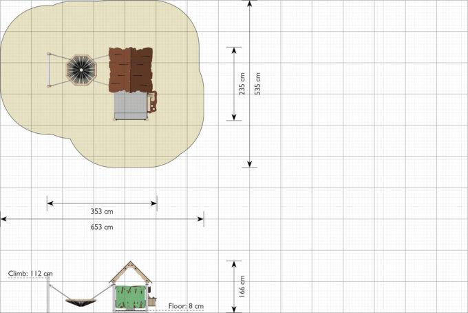 Spielhaus Lilo inkl. Nestschaukel - LEDON Explore - EX093 2