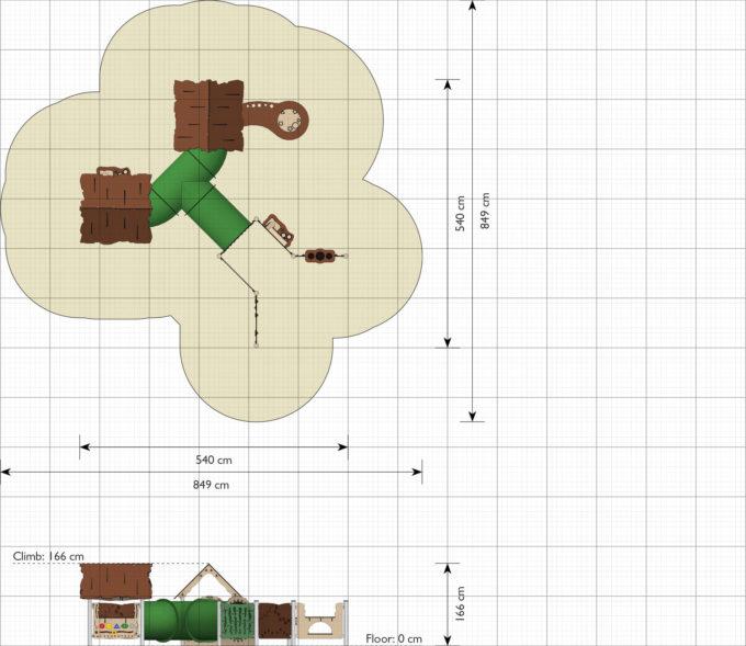 Spieldorf Luxi - 2 Spielhäuser inkl. Kriechrohren - LEDON Explore - EX096 2