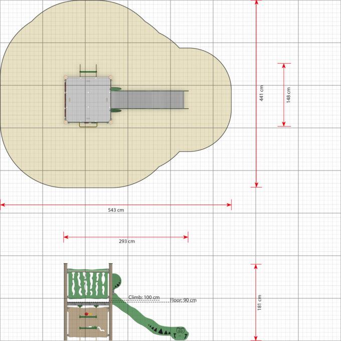 Spielanlage Fen - inkl. Rutsche - LEDON Explore - EX105 4
