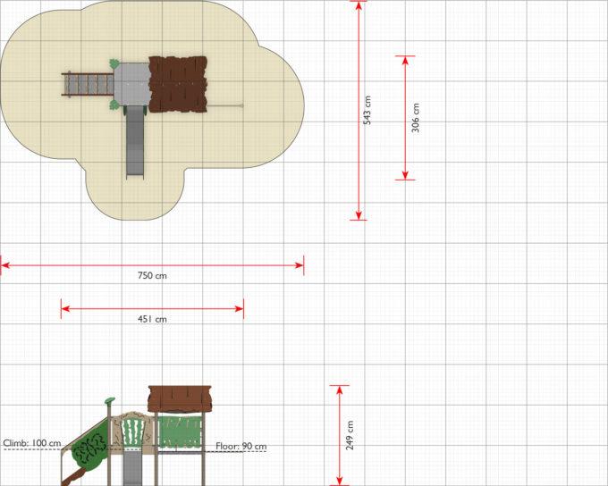 Spielanlage Rios - inkl. Spielhaus, Rutsche & Treppe - LEDON Explore - EX112 3